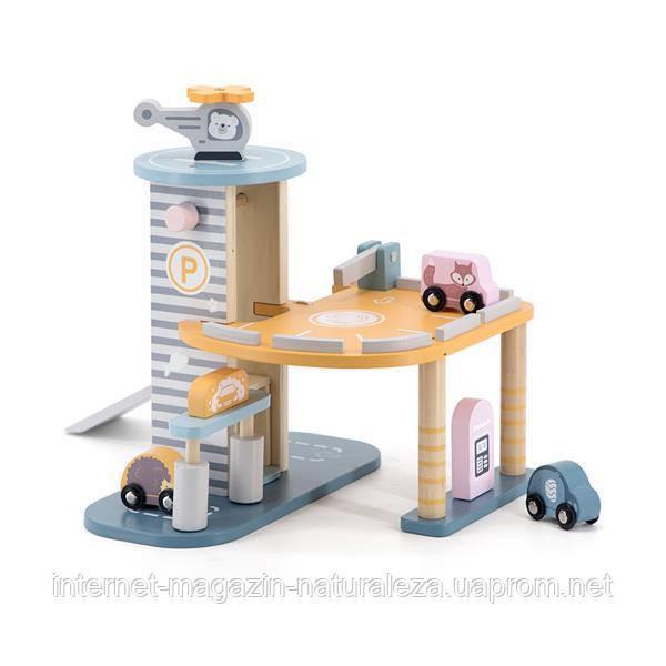 Игровой набор Viga Toys PolarB Паркинг двухэтажный (44029)