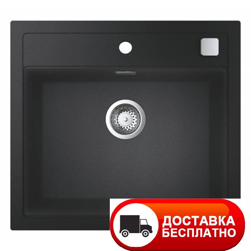 Черная гранитная мойка Grohe EX Sink 31651AP0 серия K700 56*51