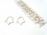 Сережки звезда под золото