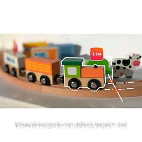 Железная дорога Viga Toys 39 деталей (50266), фото 2