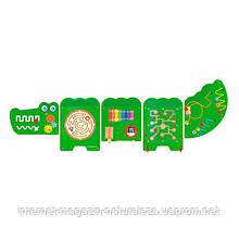 """Настенная игрушка Viga Toys бизиборд """"Крокодил"""" (50346)"""