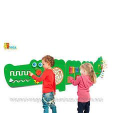 """Настенная игрушка Viga Toys бизиборд """"Крокодил"""" (50346), фото 2"""