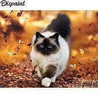 Алмазная мозаика выкладка стразами Кот на прогулке (полная выкладка) 25*20 см