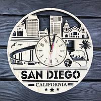 Бесшумные настенные часы из дерева «Сан-Диего», фото 1