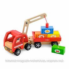 """Іграшка Viga Toys """"Автокран"""" (50690)"""