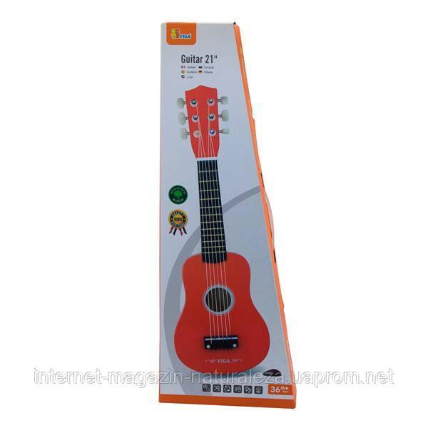 Игрушка музыкальная Viga Toys Гитара, красный (50691)