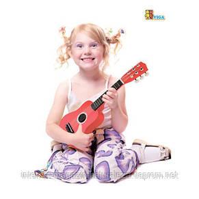 Игрушка музыкальная Viga Toys Гитара, красный (50691), фото 2