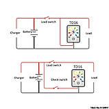 LED сенсорний Індикатор рівня заряду ємності батареї АКБ 12В. тестер вимірювач потужності навантаження вольтметр, фото 6