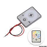 LED сенсорний Індикатор рівня заряду ємності батареї АКБ 12В. тестер вимірювач потужності навантаження вольтметр, фото 2