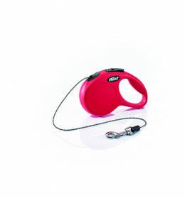 Поводок-рулетка FLEXI Cat трос XS (3 м; до 8 кг) (красный)