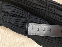 Резинка плоская из полиэфира черная 2,5 мм 100 м, фото 1