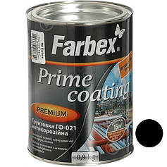 Грунтовка ГФ-021 антикорозійна Чорна ТМ Farbex 0,9кг