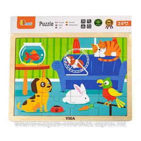 """Пазл Viga Toys """"Домашние животные"""" (51453), фото 2"""