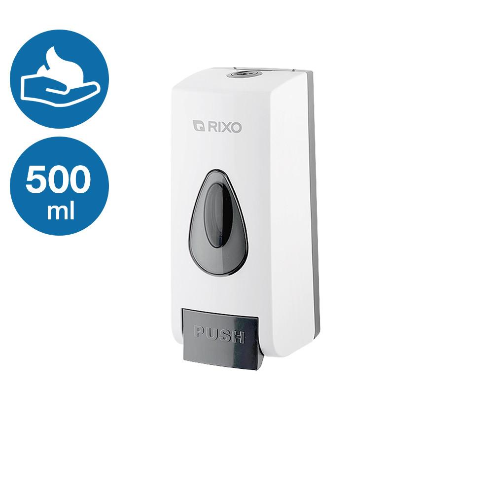 Диспенсер раздатчик мылa пены 500 мл Rixo Maggio S048W пластиковый пенообразователь белого цвета подвесной