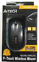Миша A4 Tech G3-230N (Black) безпровідна V-Track USB, 1000dpi