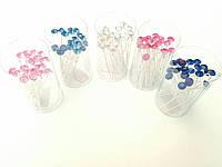 Шпильки с камнями цветные