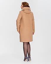 Женское пальто на молнии с капюшоном  большие размеры  рр 50-62, фото 2