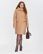 Женское пальто на молнии с капюшоном  большие размеры  рр 50-62, фото 3