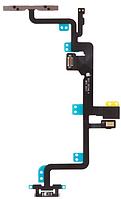Шлейф iPhone 7 Plus, с кнопкой включения, с кнопками регулировки громкости, со вспышкой и микрофоном