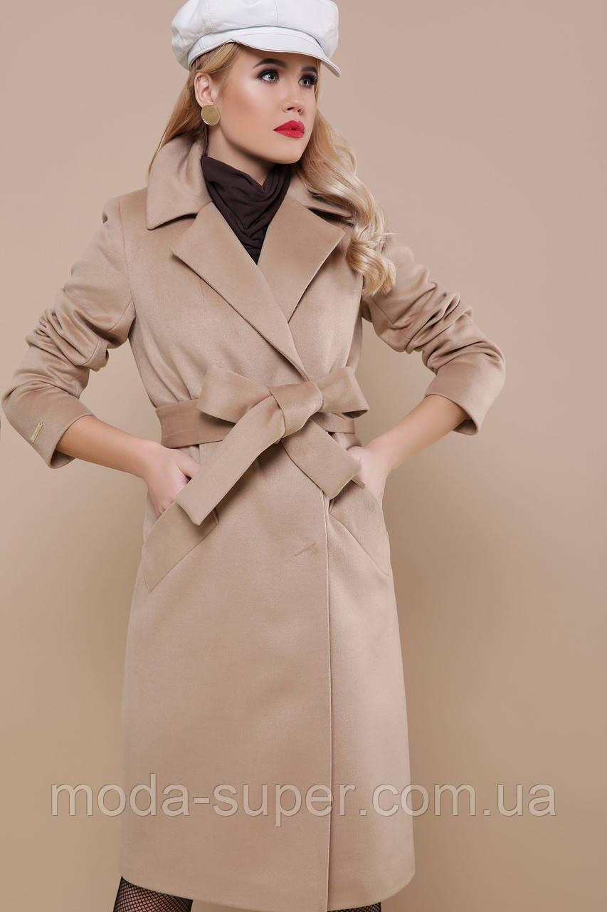 Женское пальто двубортное, прямого силуэта рр 50 и 52