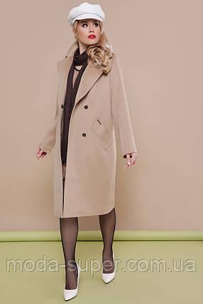 Женское пальто двубортное, прямого силуэта рр 50 и 52, фото 2