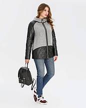 Куртка жіноча комбінована еко-шкіра+кашемір рр 46-56, фото 3