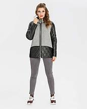 Куртка жіноча комбінована еко-шкіра+кашемір рр 46-56, фото 2