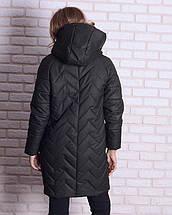 Женская зимняя куртка -кокон  44-52рр, фото 3