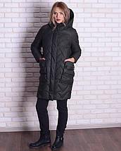 Женская зимняя куртка -кокон  44-52рр, фото 2