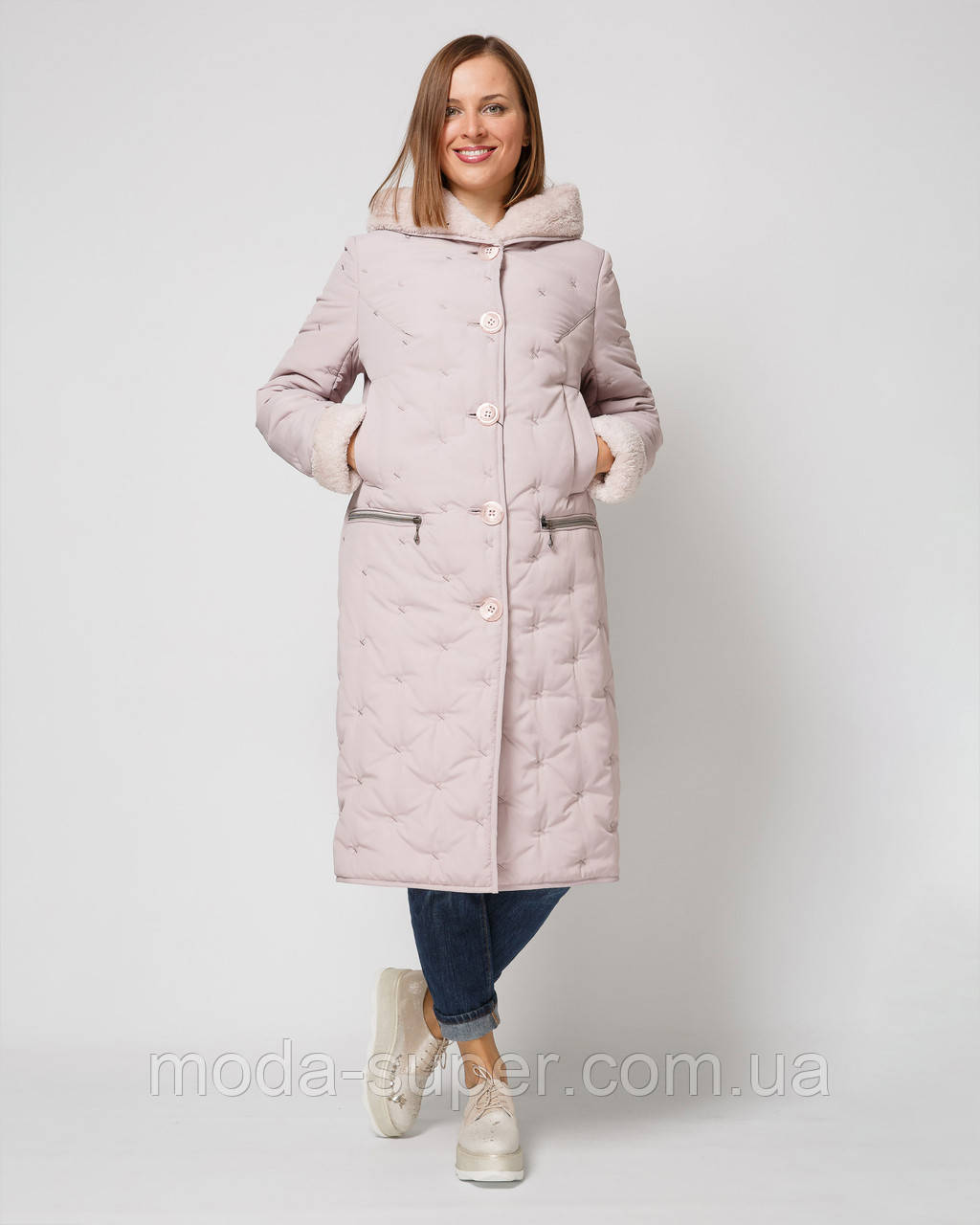Куртка женская стеганная-вельбо рр 46-58