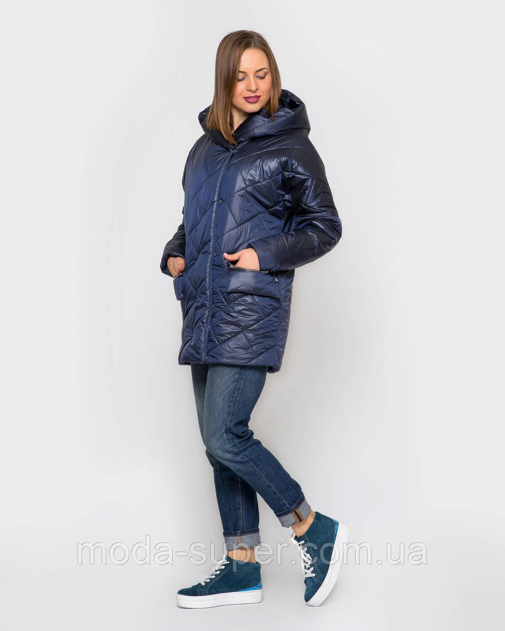 Стьобаний жіноча куртка атласна з просоченням рр 44-56
