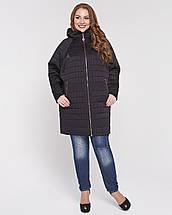 Стеганная женская куртка с рукавом летучая мышь рр 48-56, фото 2