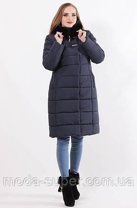 Женская зимняя куртка из плотной плащевки, фото 2