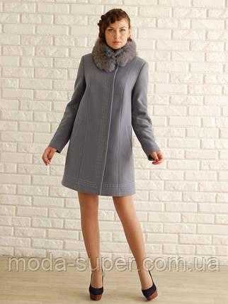 """Женское зимнее пальто - """"Свингер"""" с мехом, фото 2"""