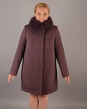 """Женское зимнее пальто - """"Свингер"""" с мехом, фото 3"""