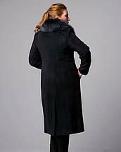 Зимнее длинное пальто ворсовый кашемир, фото 2