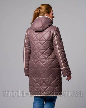 Женская стеганная куртка с капюшоном  рр 50-56, фото 2