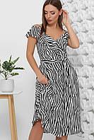 Платье летнее длинное в полоску, на бретелях, с поясом. Размеры 42-50. Платье летнее черное + белое супер софт