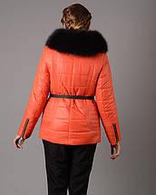 Женская зимняя куртка на холофайбере с меховой опушкой, фото 3