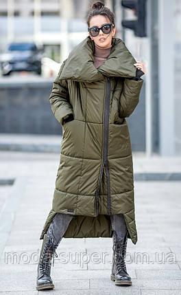 Зимнее пальто - одеяло на синтепухе,оригинального кроя, фото 2