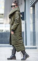 Зимнее пальто - одеяло на синтепухе,оригинального кроя, фото 3