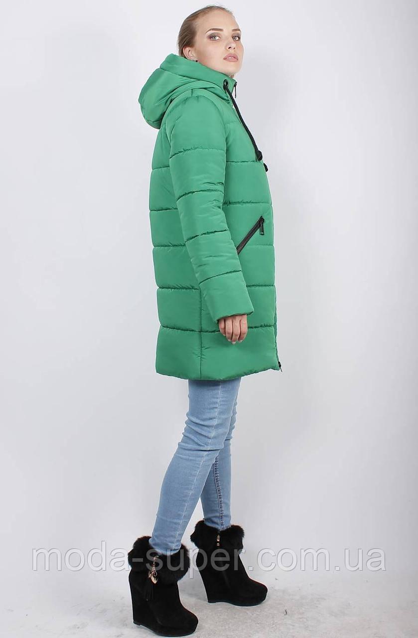 Жіноча зимова куртка-пуховик, рр 48-58