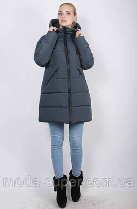 Женская зимняя куртка-пуховик на синтепоне, рр 48-58, фото 2