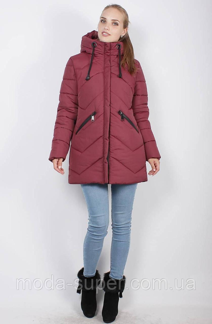 Стильная зимняя куртка-пуховик, рр 46-52