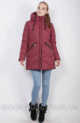 Стильная зимняя куртка-пуховик, рр 46-52, фото 2