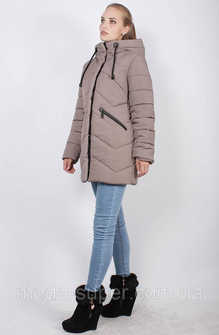 Стильная зимняя куртка, рр 46-52