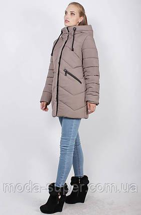 Стильная зимняя куртка, рр 46-52, фото 2