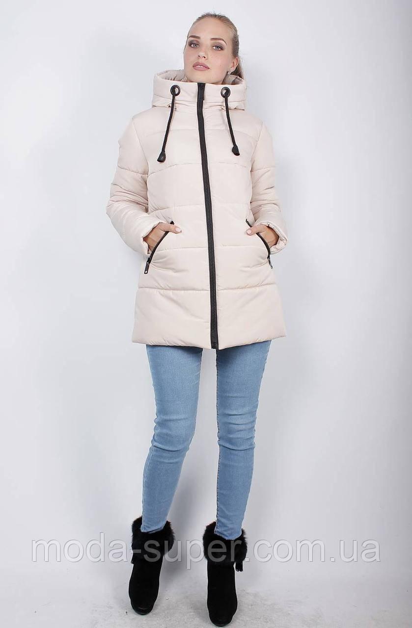 Стильная укороченная зимняя куртка-пуховик, рр 48-58