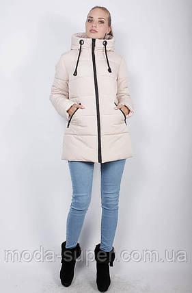Стильная укороченная зимняя куртка-пуховик, рр 48-58, фото 2