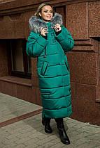 Женское пальто - пуховик из плащевки,с эко-мехом 48-58, фото 2